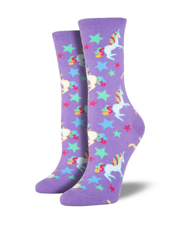Women's Unicorn Socks - Purple