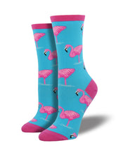Women's Flamingo Socks - Blue