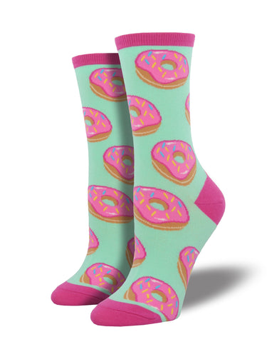 Women's Donut Socks - Mint