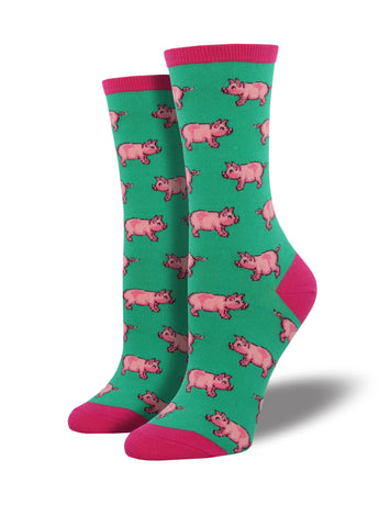 Women's Little Piggy Socks - Green