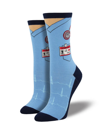 Women's Scrubs Socks - Blue