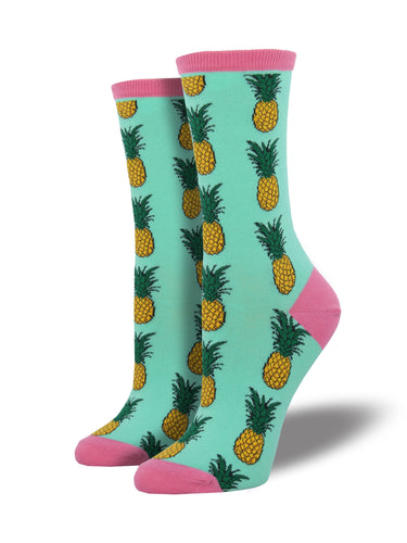 Women's Pineapple Socks - Mint