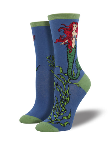 Women's Mermaid Socks - Blue