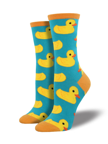 Women's Rubber Ducky Socks - Blue