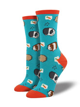 Women's Guinea Pig Socks - Blue
