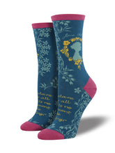 Women's Jane Austen Book Socks - Teal