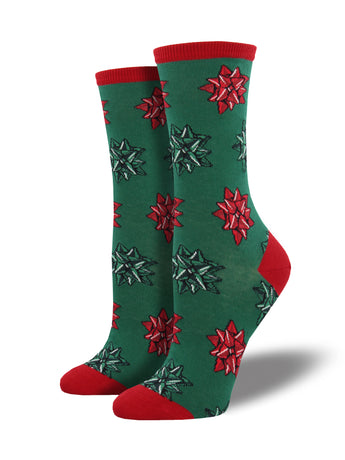 Christmas Bows Socks