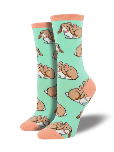 Women's Some Bunny's Adorable Socks - Mint
