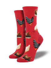 Women's Chicken Socks - Red