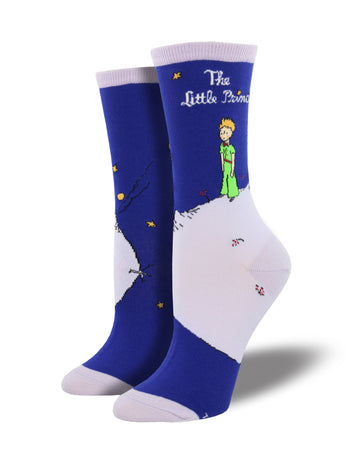 Women's The Little Prince Cover Socks - Blue