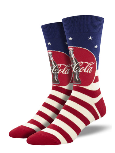 Americana Coca-Cola Socks for Men - Shop Now | Socksmith