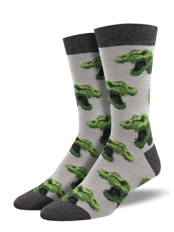 Bamboo Rex Your Muscles Dinosaur Socks for Men - Shop Now | Socksmith