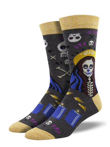 Bamboo Wicked Voodoo Skeleton Socks for Men - Shop Now | Socksmith