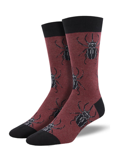Men's Dress Socks - Beetle Mania