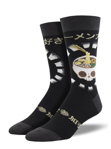 Men's Dress Socks - So Ramentic Skull Socks