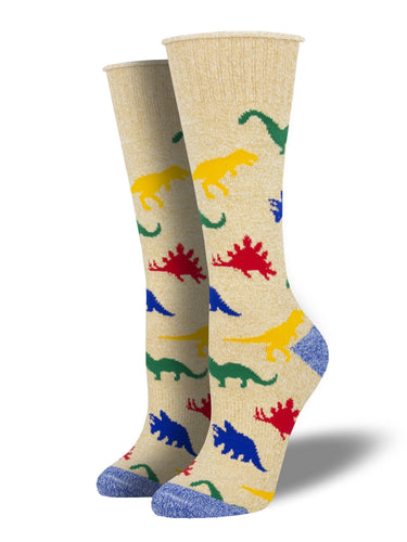 Recycled Cotton - Dinosaur Socks Made In USA | Socksmith