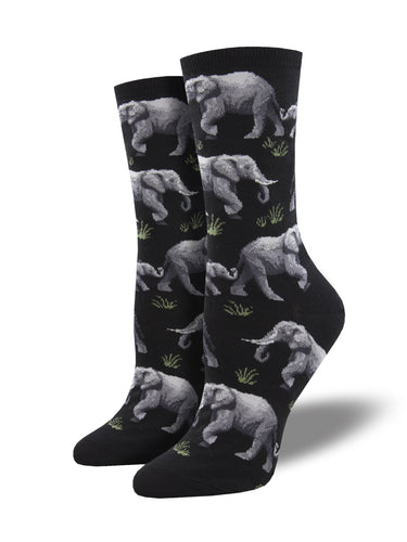 Women's African Themed Elephant Herd Socks | Socksmith