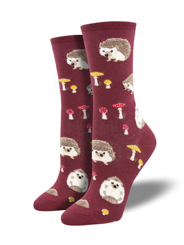 Women's Adorable Hedgehog Novelty Socks | Socksmith