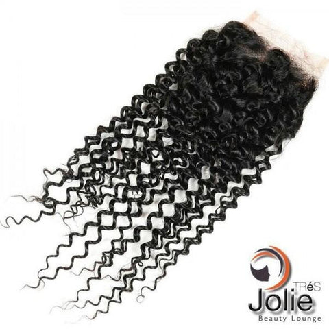 Brazilian Human Hair Kinky Curly 3 way part Closure