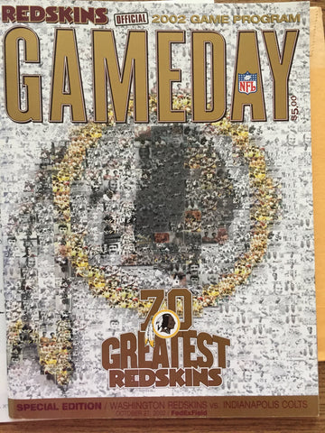 Redskin Game Day Special Edition 70 greatest Redskins