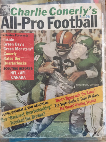 October 1962 Charlie Conerly's All-Pro Football