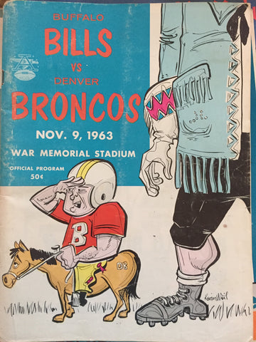 November 9, 1963 Bills vs Broncos