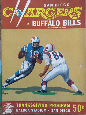 November 26, 1964 Chargers vs Bills Thanksgiving Program