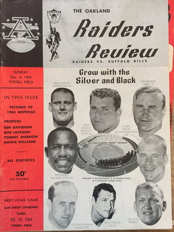 December 6, 1964 The Oakland Raiders Review Raiders vs Bills