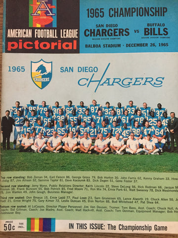 1965 Championship December 25, 1965 Chargers vs Bills