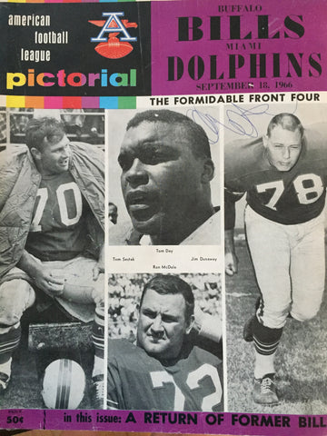 September 18 1966 Buffalo vs Miami Program
