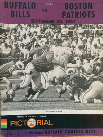 September 24, 1967 Bills vs Patriots