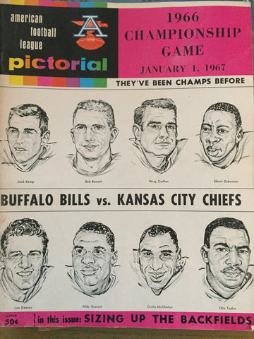 1966 Championship Game January 1, 1967 Bills vs Chiefs