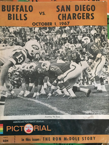 October 1, 1967 Bills vs Chargers