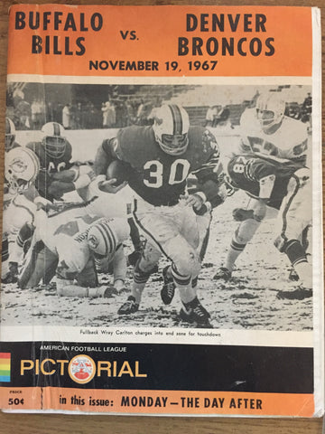 November 19, 1967 Bills vs Broncos