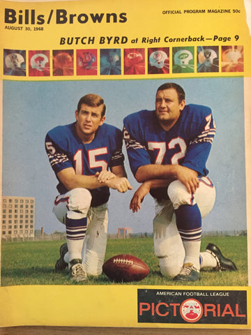 August 30, 1968 Bills/Brown