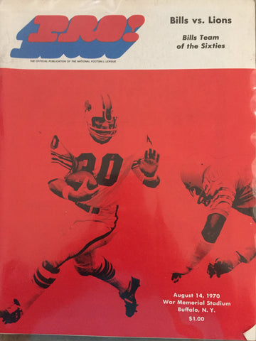 August 14, 1970 Bills vs Lions BillsTeam of the Sixties