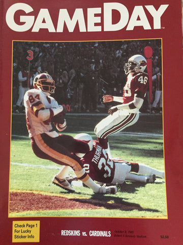 October 8, 1989 GameDay Redskin vs Cardinals