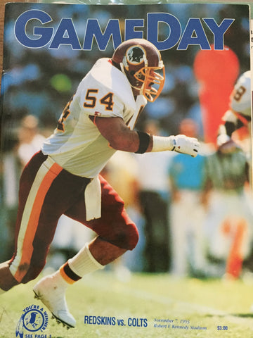November 7, 1993 Redskin vs Colts GameDay