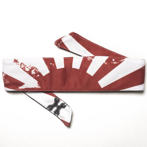 HK Army Headband - Rising Sun White
