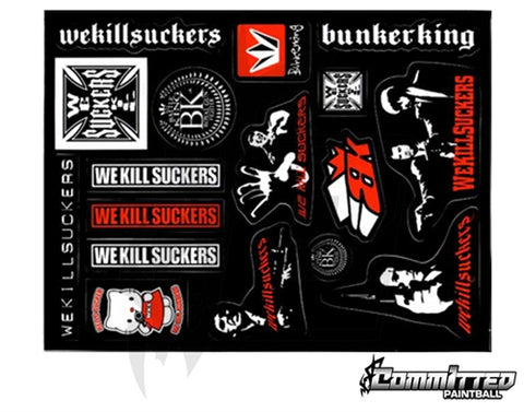BunkerKing OG Sticker Sheet