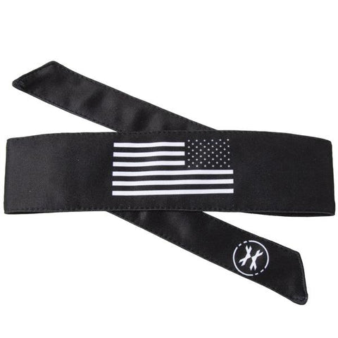 HK Army Headband - USA Black White