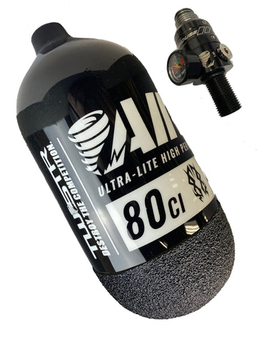 TWSTR AIR-80 UL 80/4500 - Black/White (w/ GRYP) + Powerhouse HAYMKR AIR-80 Regulator Combo