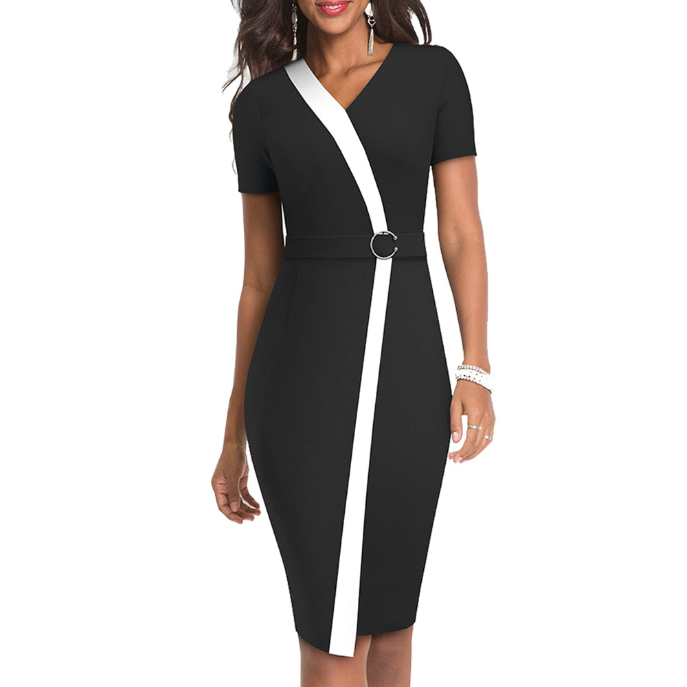 Short Sleeve Sheath Dress