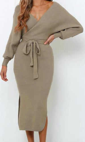 Sexy Long Sleeve Sweater Dress