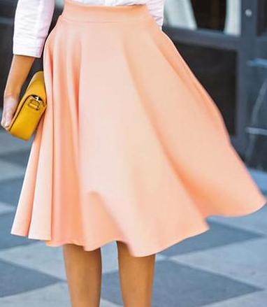 Women Summer High Waist Long A Line Pleated Midi Skirts Office Ball skirt