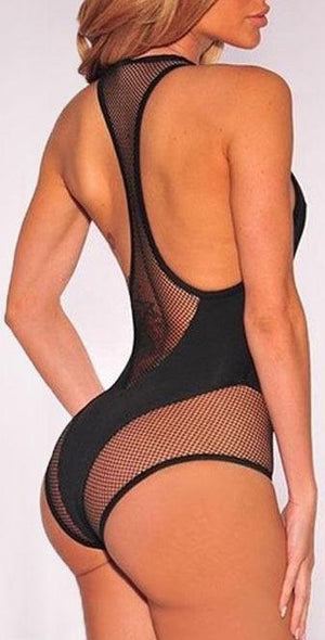 Ladies One Piece Mesh Bandage Bikini Swimsuit