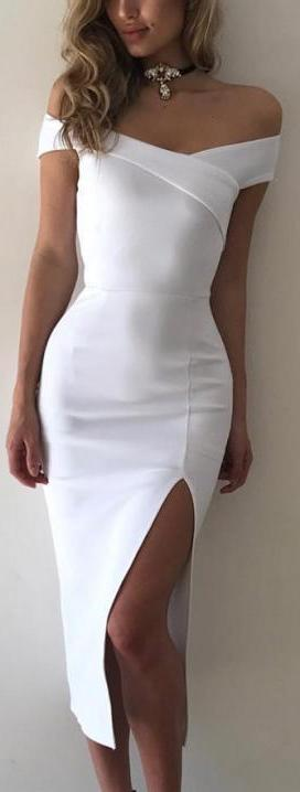 Sleeveless Slim Cocktail Split Dress