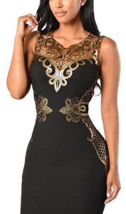 Slim Sleeveless Lace Bodycon Evening Dress