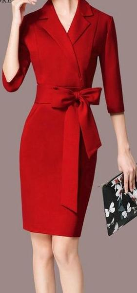 Elegant Formal  Business Dress