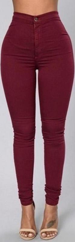 Slim Ankle-length Candy Color Skinny Jeans